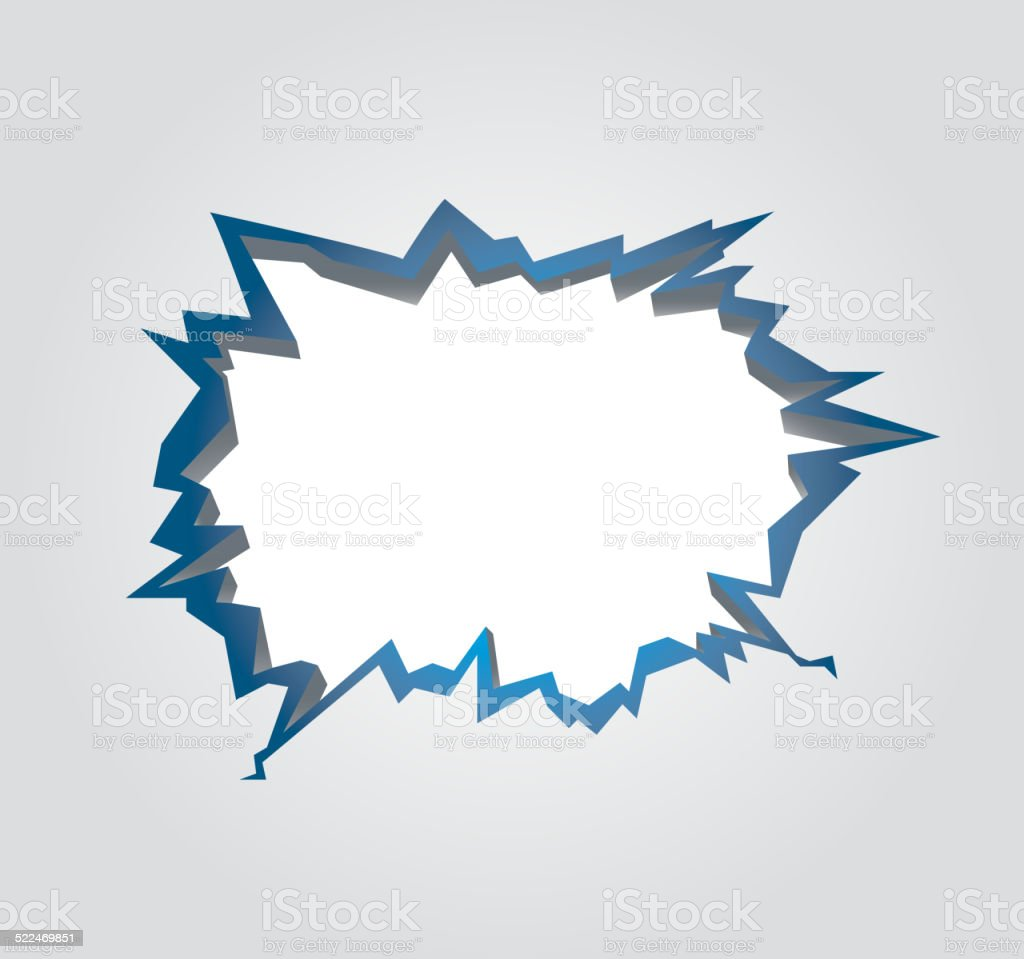 Hole with cracks vector art illustration