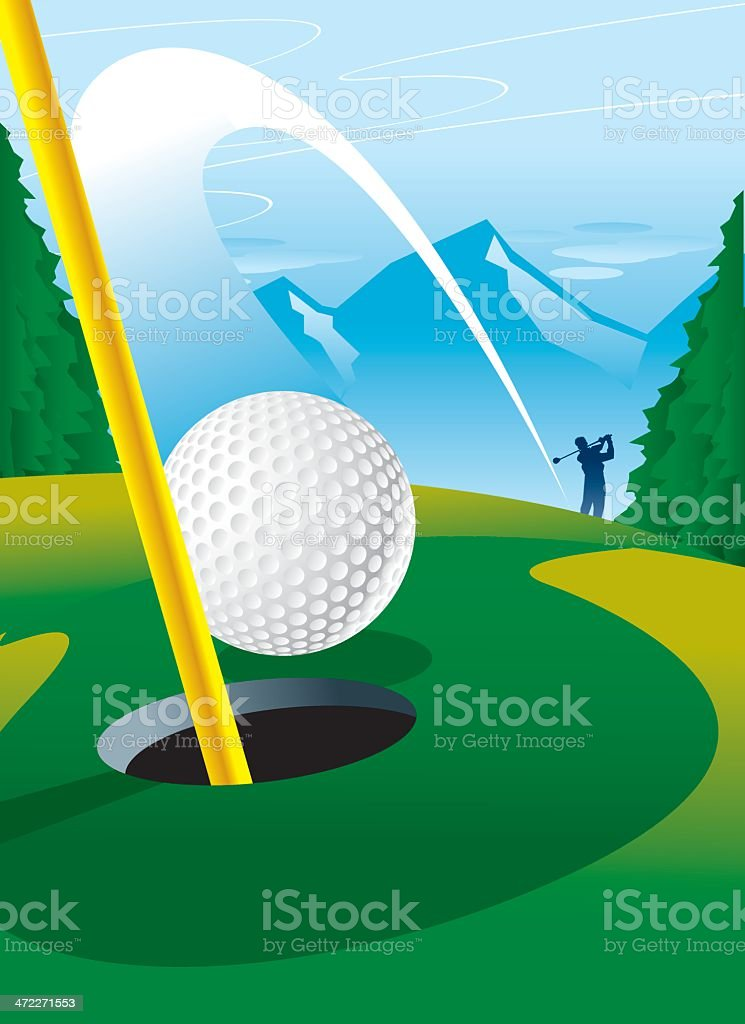 Hole-In-One vector art illustration
