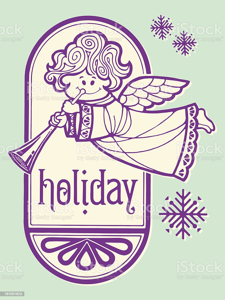 Holiday Angel royalty-free stock vector art