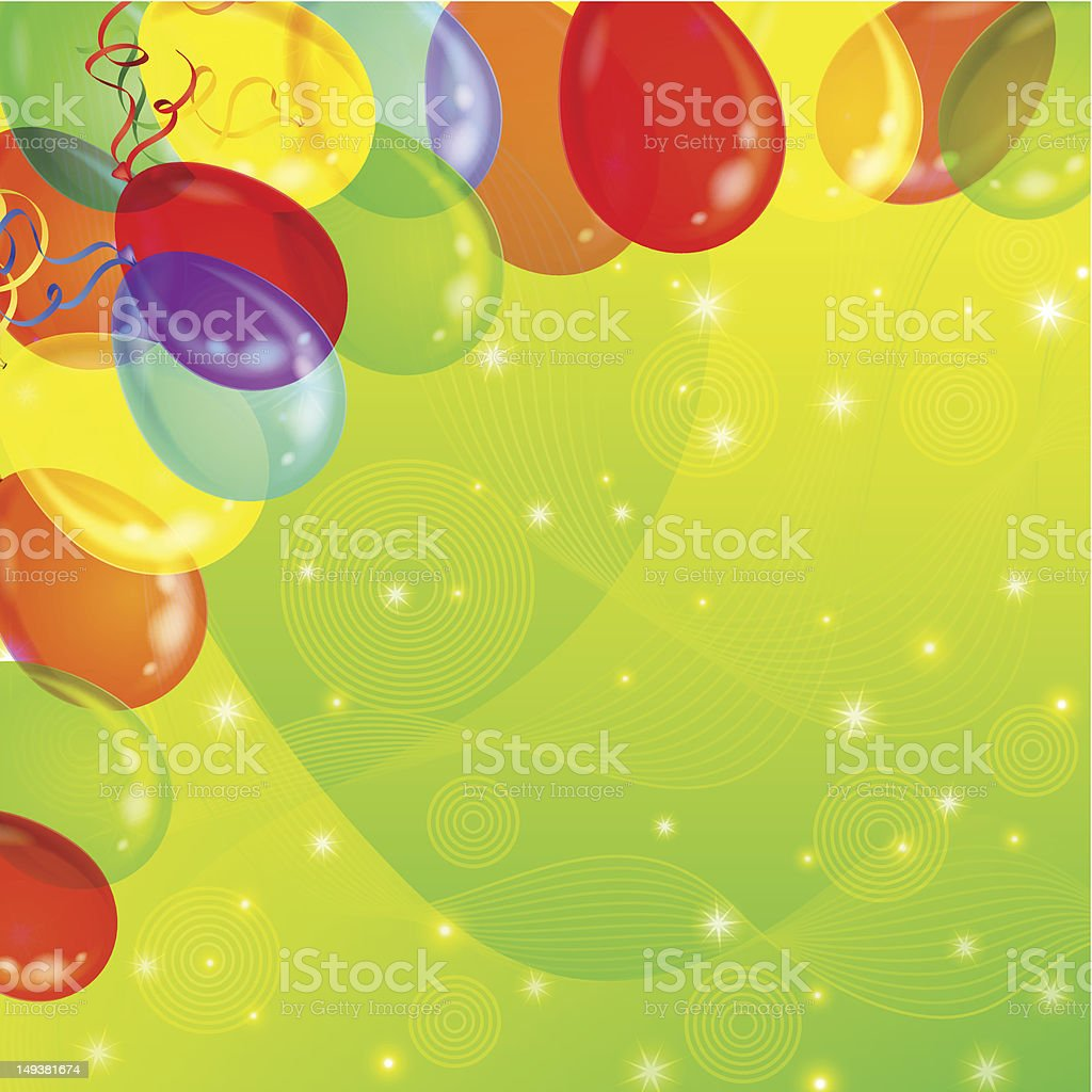 Holiday background with balloons royalty-free stock vector art
