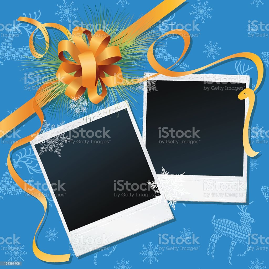 Holiday Background with Polaroids royalty-free stock vector art