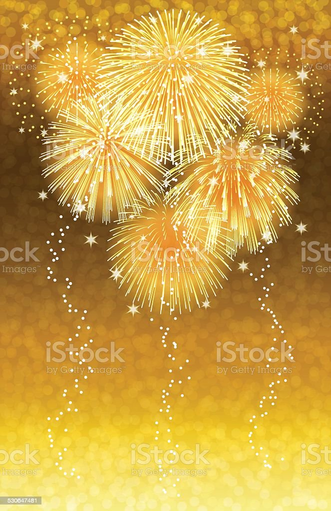Holiday background[Fireworks in the Champagne] vector art illustration