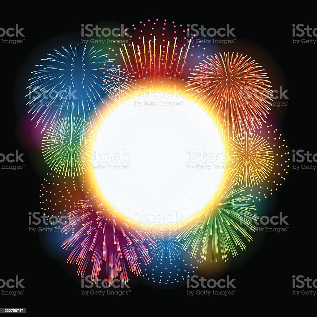 Holiday background[Fireworks] vector art illustration
