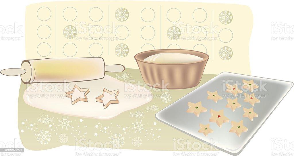 Holiday Baking vector art illustration