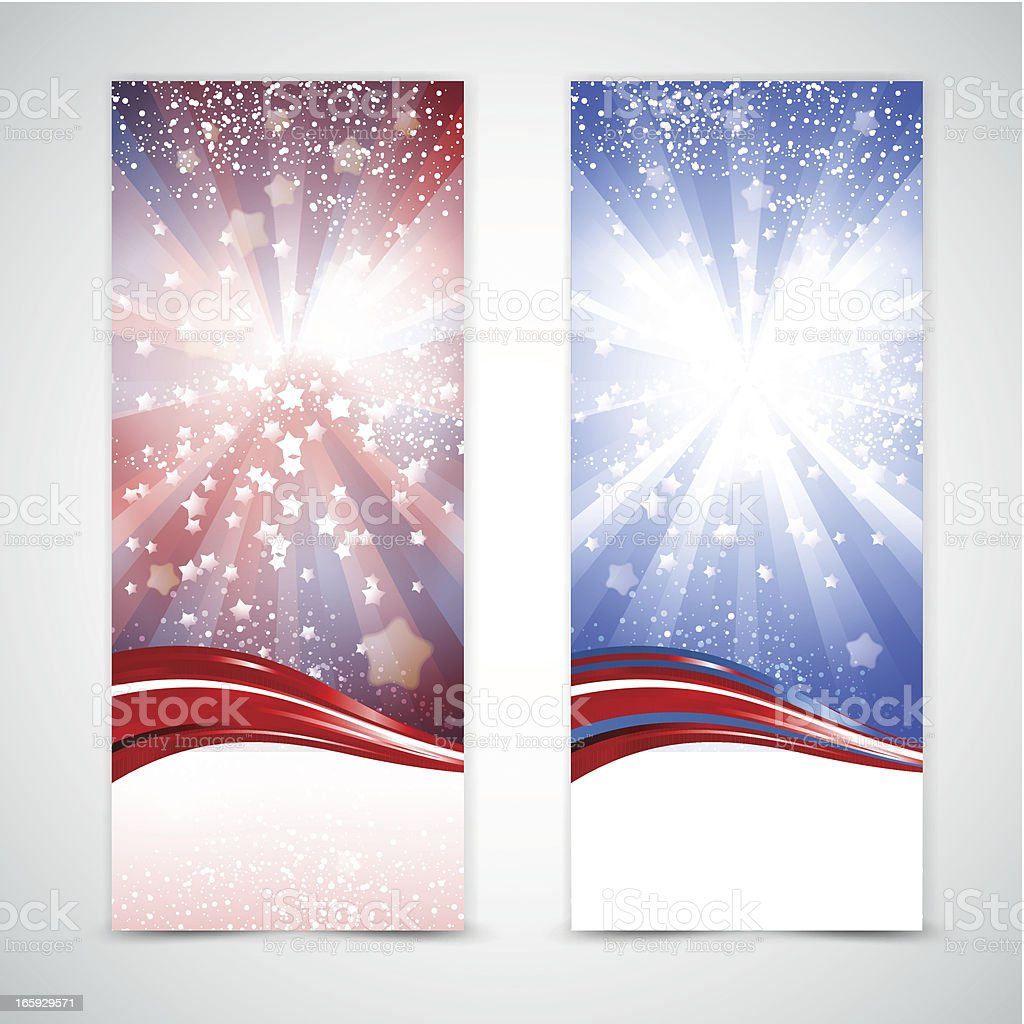 USA holiday banners royalty-free stock vector art