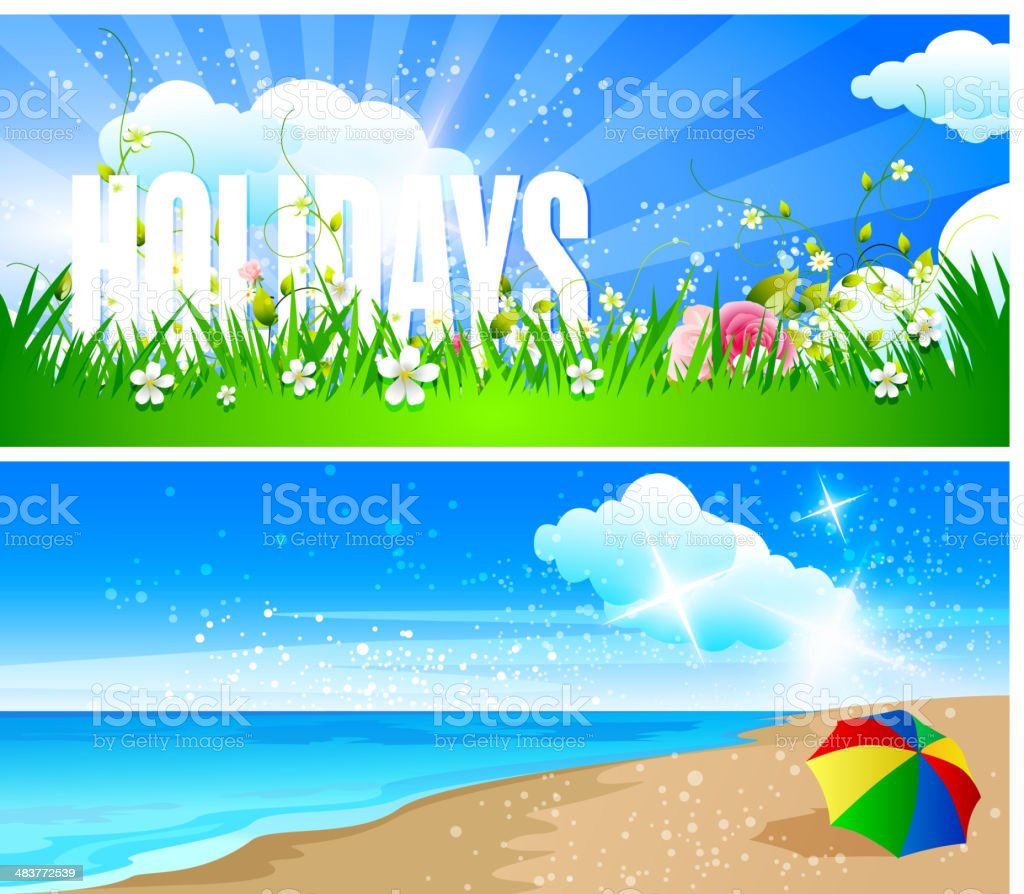 Holiday Banners royalty-free stock vector art