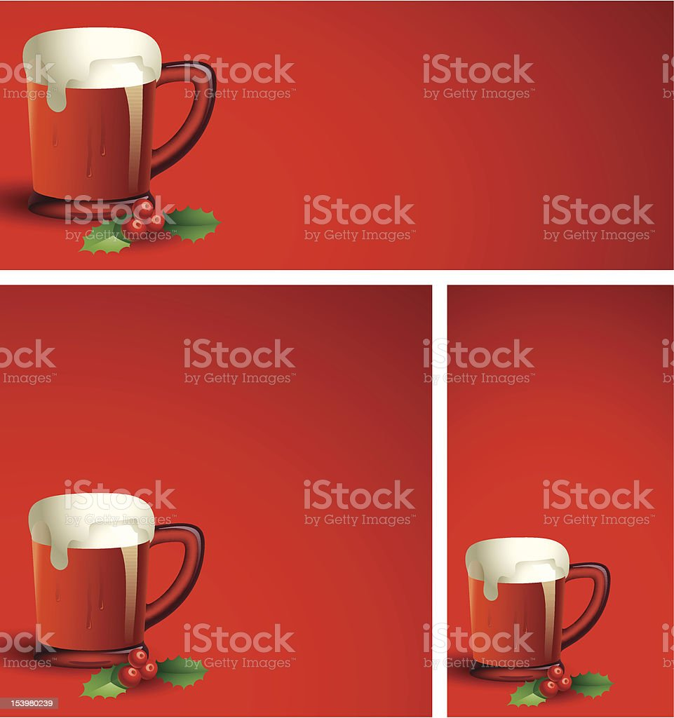 Holiday Beer Backgrounds royalty-free stock vector art