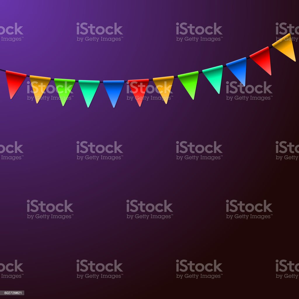 Holiday Birthday Colorful Flags. Vector Background royalty-free stock vector art