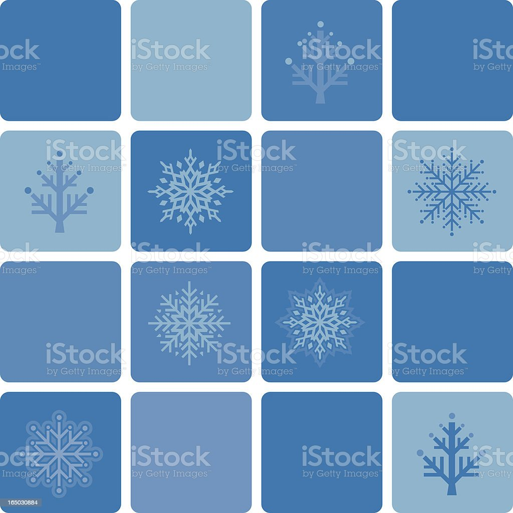 Holiday blue Pattern royalty-free stock vector art