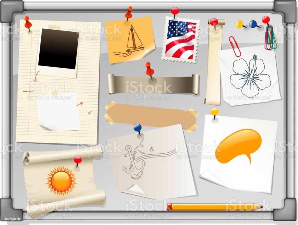 holiday bulletin board royalty-free stock vector art
