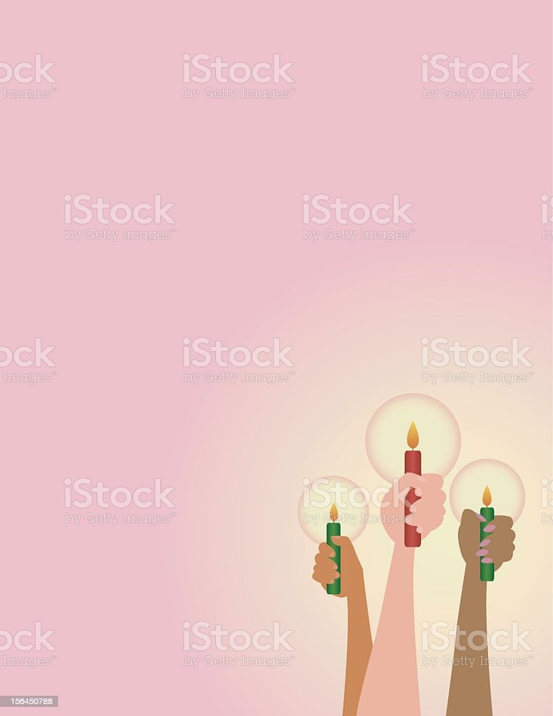 Holiday Candles vector art illustration