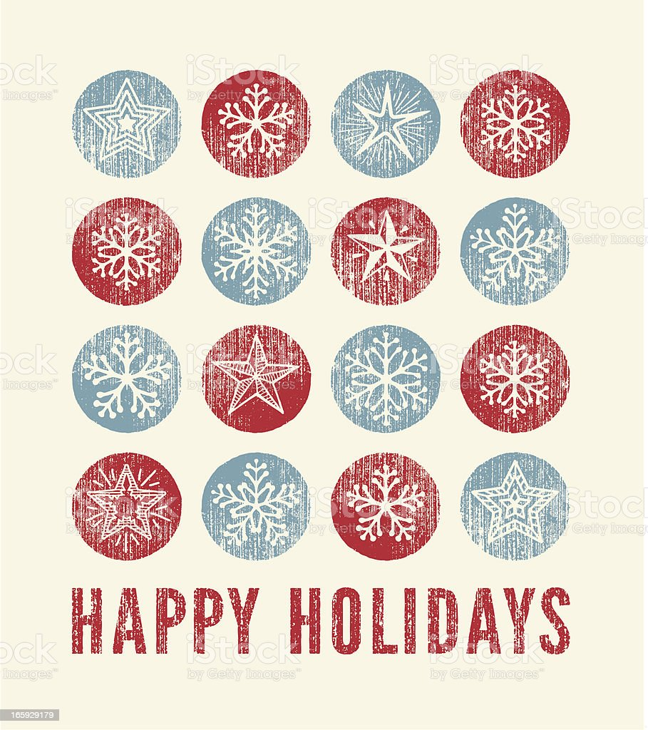 Holiday Card royalty-free stock vector art