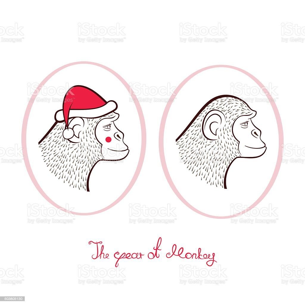 Holiday card with a New year, vector illustration vector art illustration