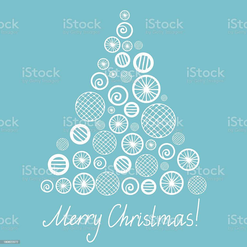 Holiday card with Christmas tree royalty-free stock vector art