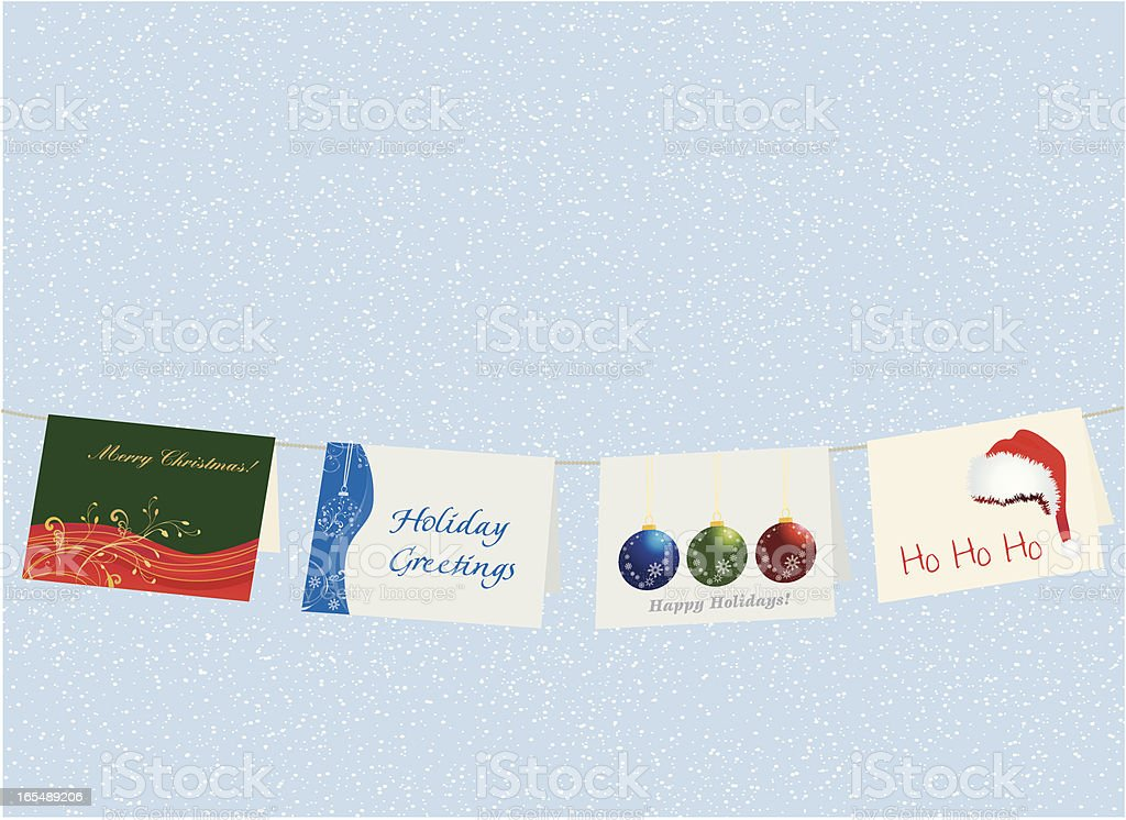 Holiday cards display royalty-free stock vector art