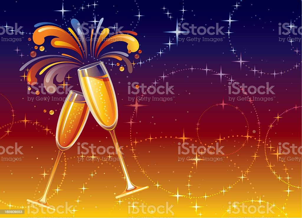 Holiday Champagne background royalty-free stock vector art