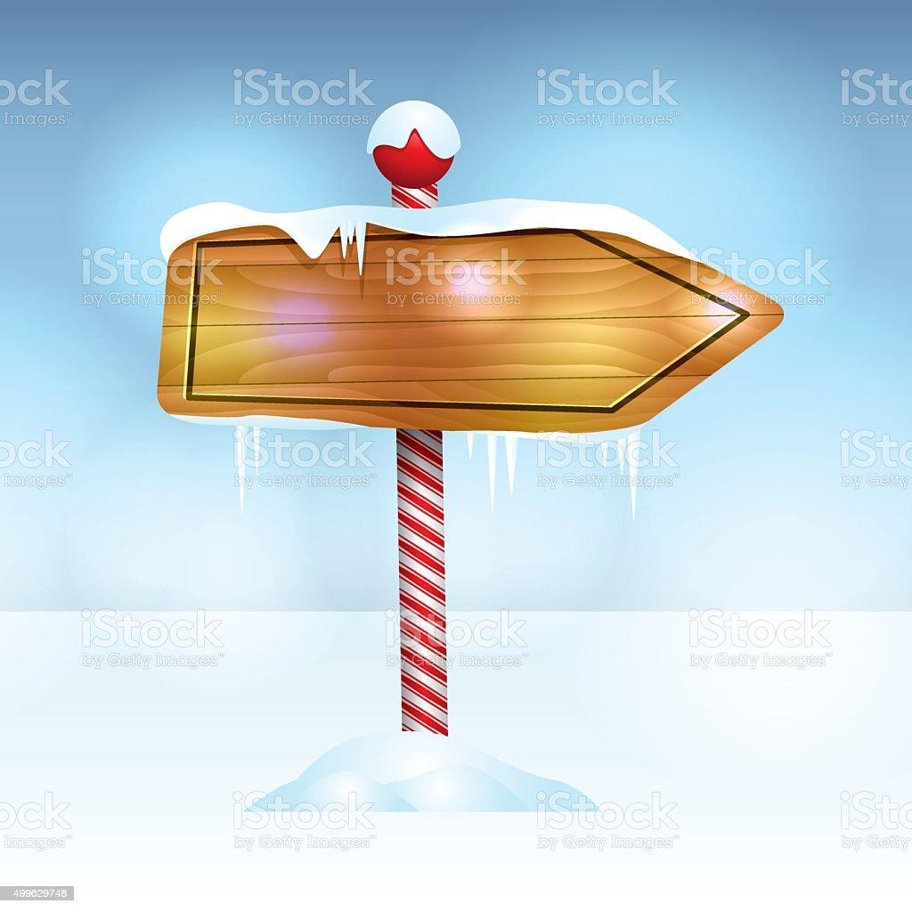 Holiday Christmas Sign in Snow Illustration vector art illustration