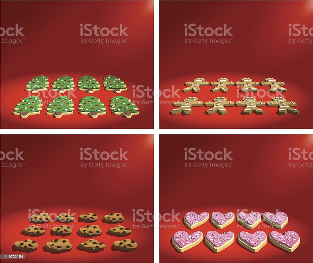 Holiday Cookies vector art illustration