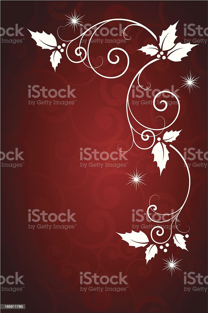 Holiday corner scroll royalty-free stock vector art
