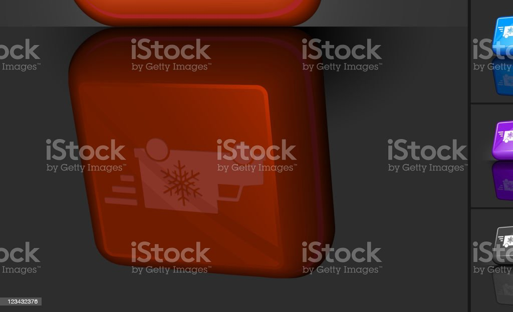 holiday delivery truck royalty free vector 3D button royalty-free stock vector art