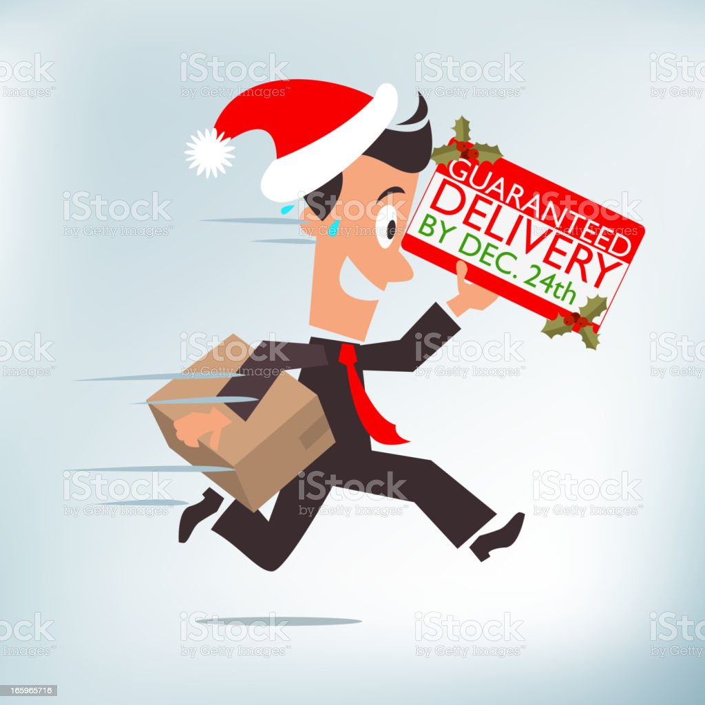 Holiday Delivery royalty-free stock vector art