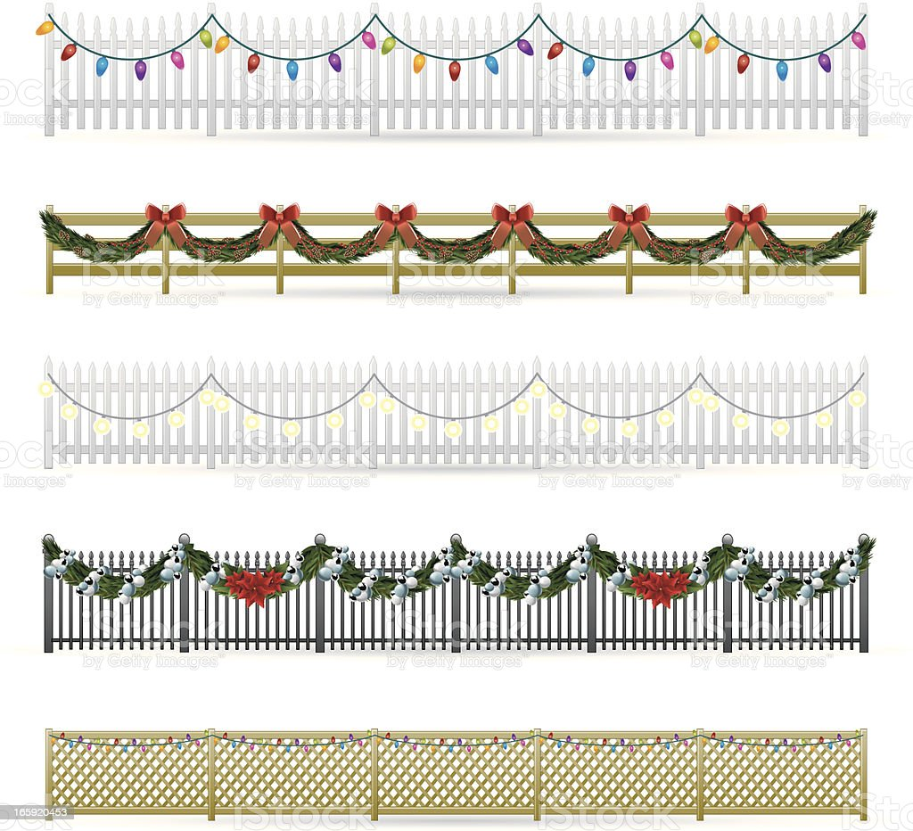 Holiday Fences royalty-free stock vector art