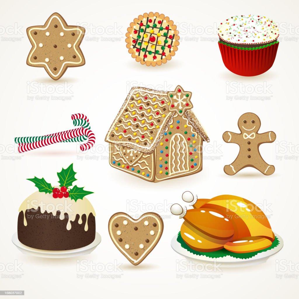 Holiday food royalty-free stock vector art