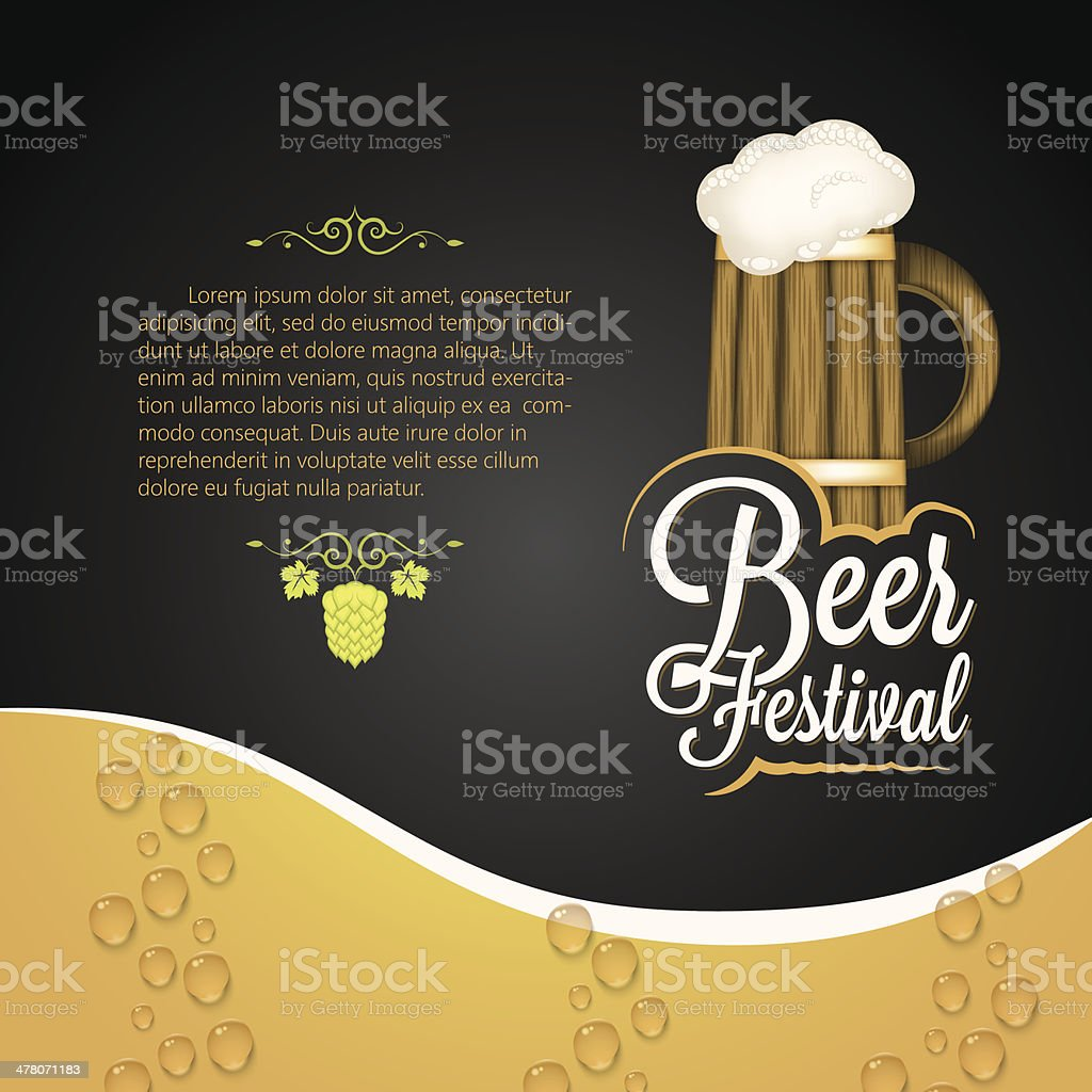 holiday - frame happy beer festival royalty-free stock vector art