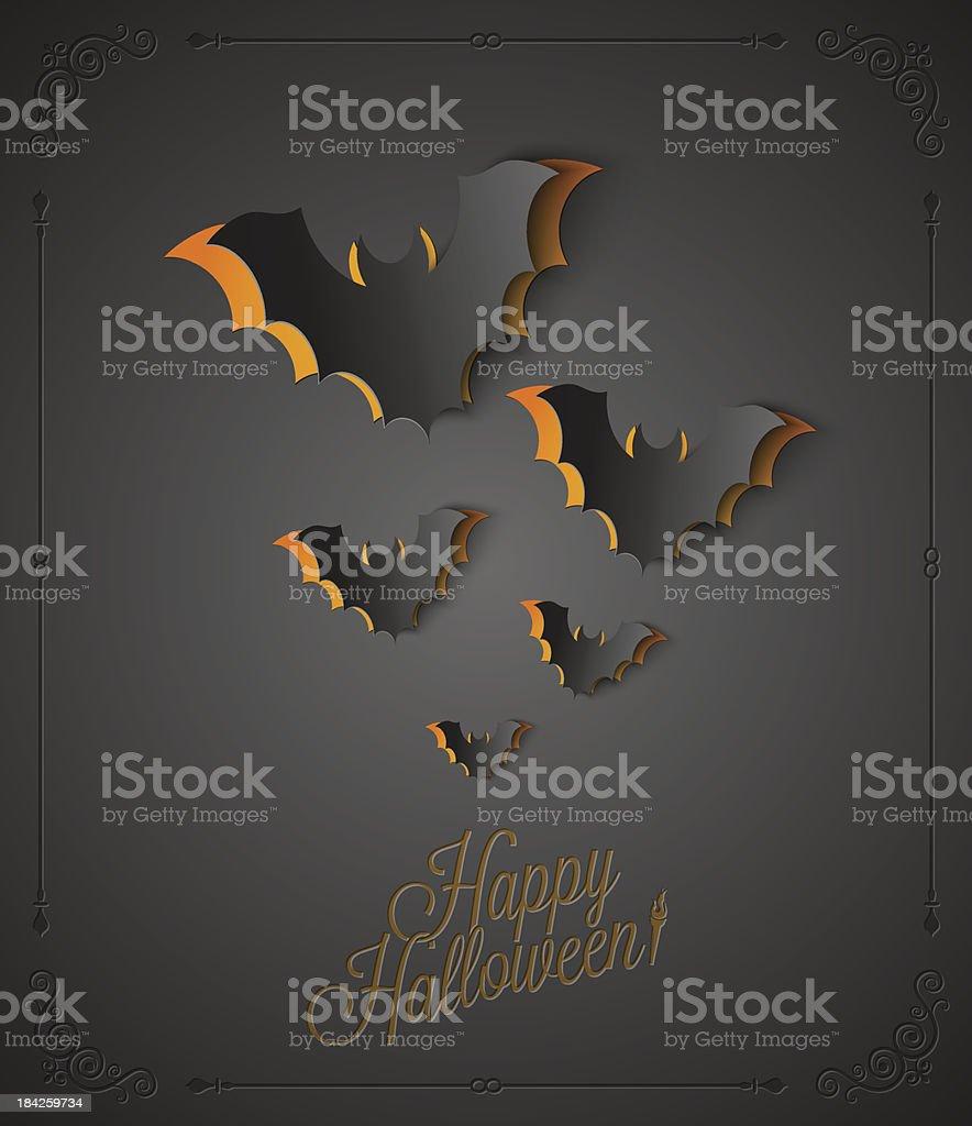 holiday - frame happy halloween royalty-free stock vector art