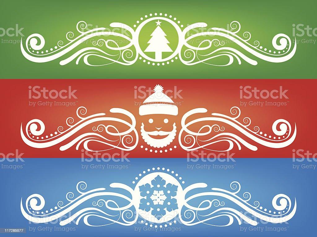 Holiday Fretwork vector art illustration