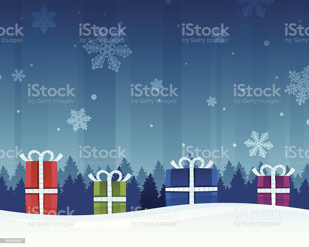 Holiday Gift Background royalty-free stock vector art