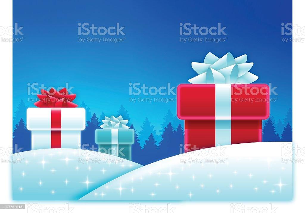 Holiday Gift Background vector art illustration