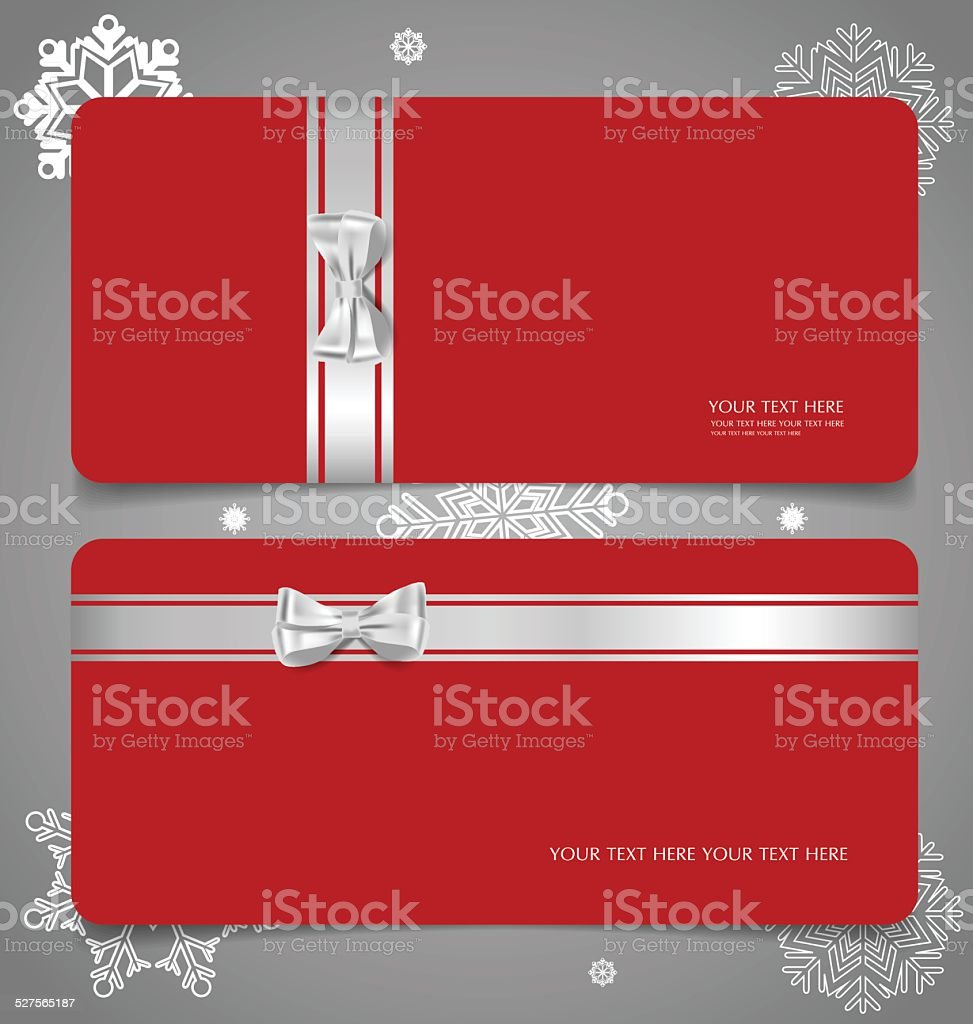 holiday gift coupons gift bows and ribbons stock vector art holiday gift coupons gift bows and ribbons royalty stock vector art