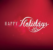 Holiday Greeting Card Design Element in Vintage Style