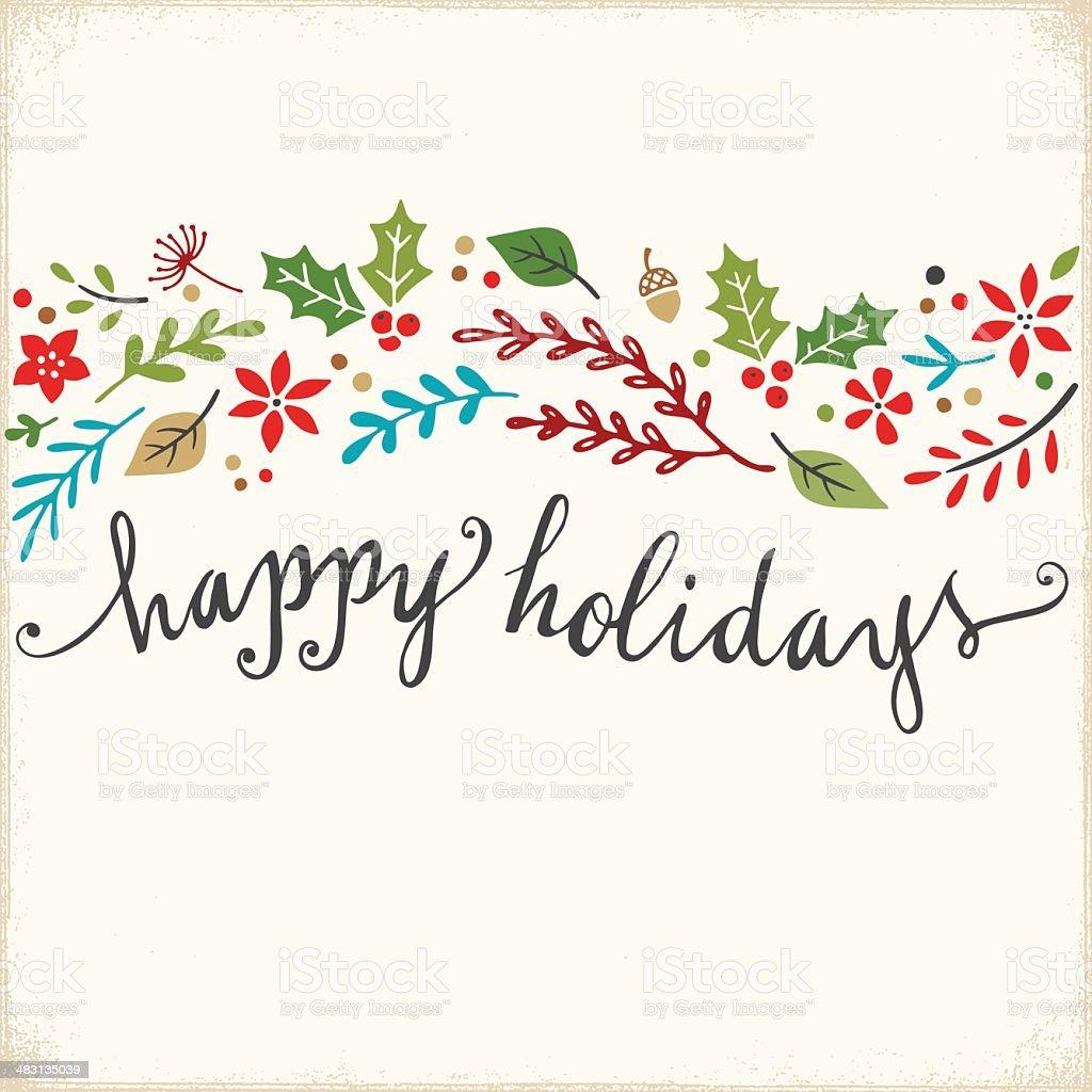 Holiday Greeting Card royalty-free stock vector art