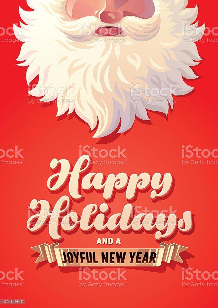 Holiday Greeting Card vector art illustration