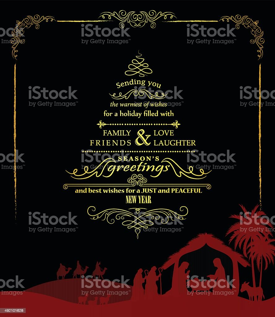 Holiday Greeting vector art illustration