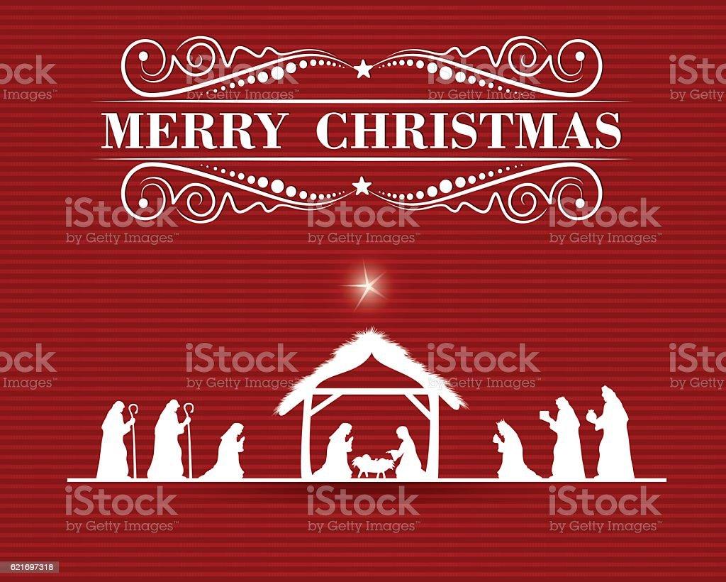 Holiday Greeting vector art illustration