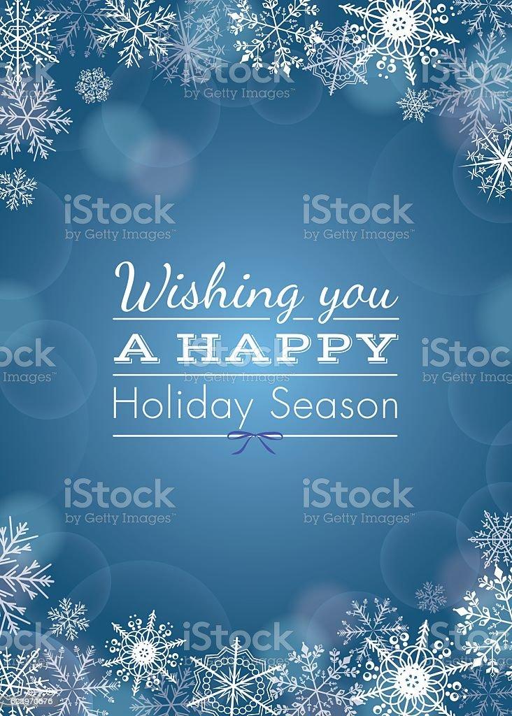 Holiday greeting - vector vector art illustration