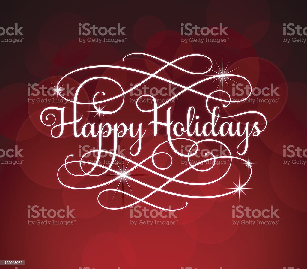 Holiday Greetings Calligraphy royalty-free stock vector art