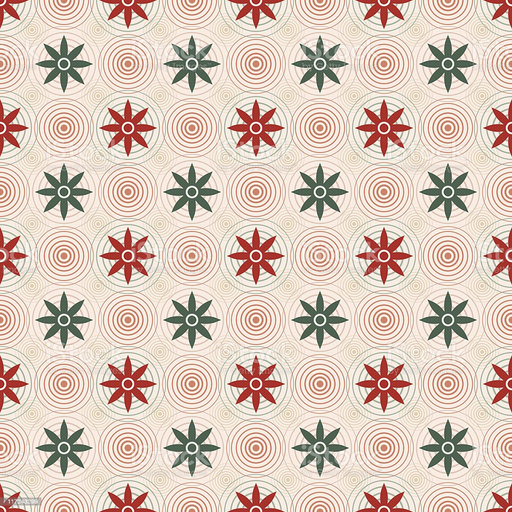 Holiday Hynoflower (Seamless) royalty-free stock vector art