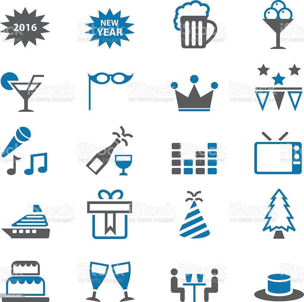 Holiday icon set vector art illustration