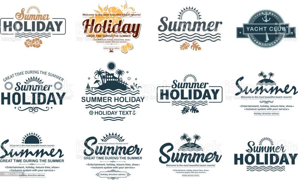 holiday label vector art illustration