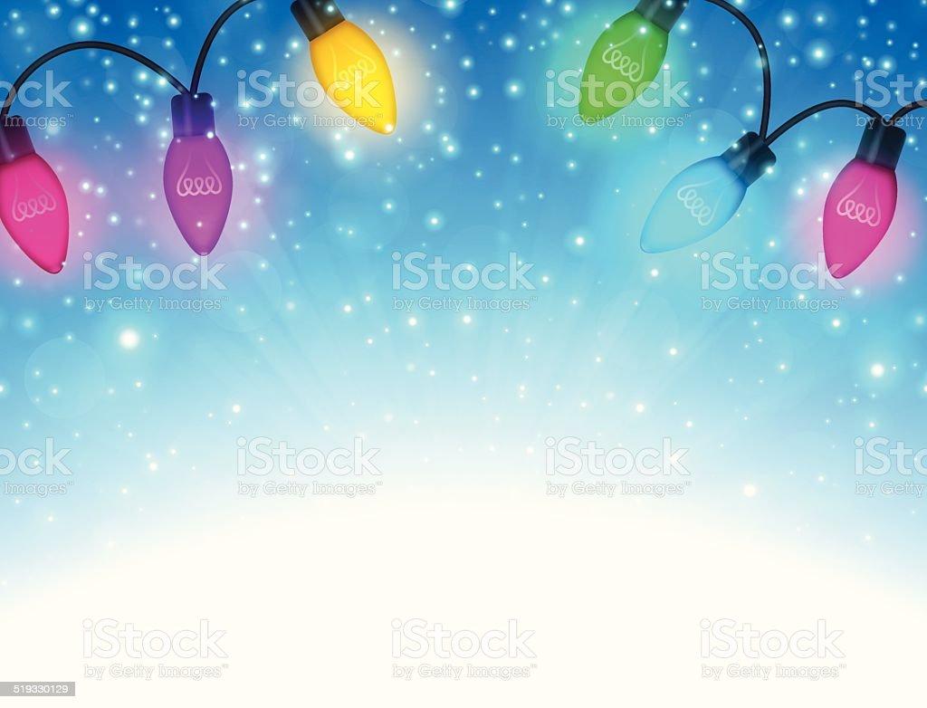 Holiday Lights Background vector art illustration
