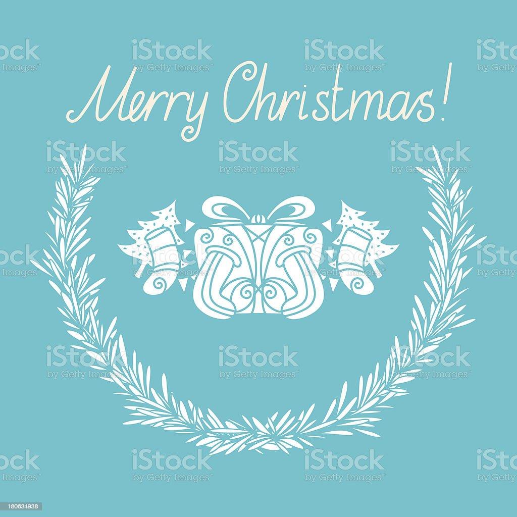 Holiday Merry Christmas card royalty-free stock vector art