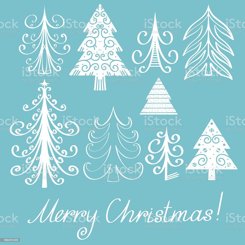 Holiday Merry Christmas set royalty-free stock vector art