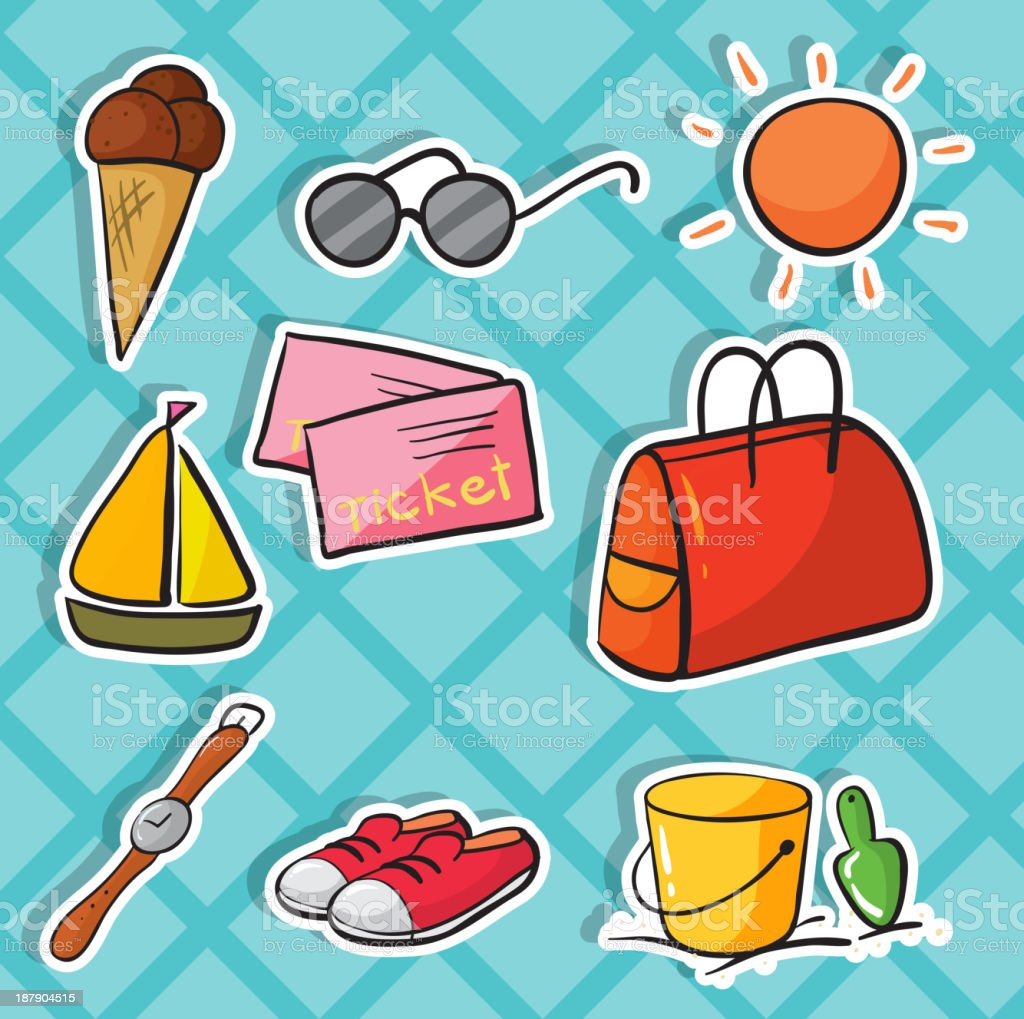 holiday objects royalty-free stock vector art