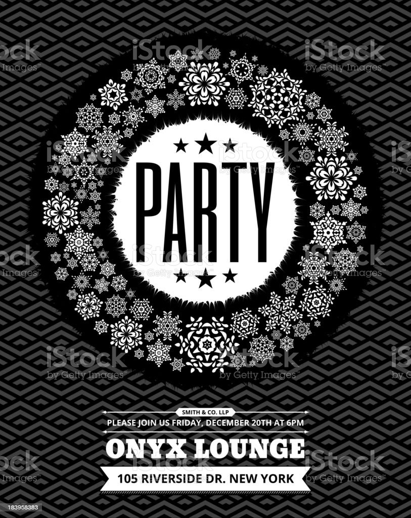 Holiday Party Celebration Invitation Card royalty-free stock vector art