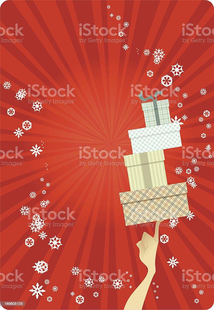 Holiday Presents and shopping royalty-free stock vector art