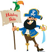 Holiday Sale with jolly Pirate